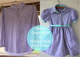 men u0027s dress shirt to girls u0027 vintage style dress pa country crafts
