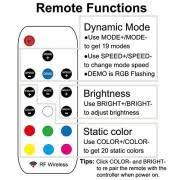 airgoo kit rgb computer led strip light multi function