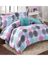 spectacular deal on girls teen kids modern bedding set aqua pink