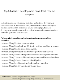sample business development consultant resume how to write