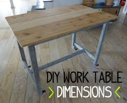 Simple Work Bench How To Build A Simple Low Cost Work Table With Reclaimed Wood