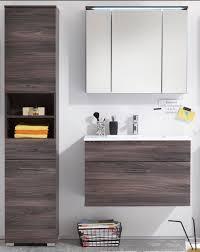 badezimmer set günstig badmöbel seattle 3 tlg hoschrank badezimmer set braun sangallo