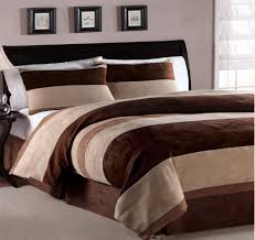 Blue And Brown Bed Sets Comforter Set 7 Fontaine Blue With Chocolate Brown