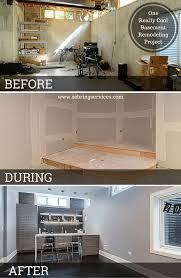 Cool Basements Before U0026 After One Really Cool Basement Remodeling Project Home