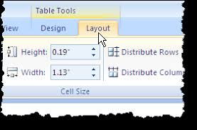 table tools design tab sum a table column in word