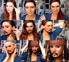 jack sparrow makeup transformation video by alysontabbitha