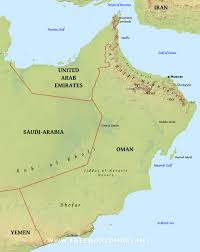 map of oman oman physical map