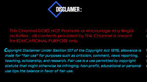 disclaimer template youtube