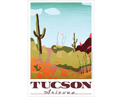 Arizona travel posters images Tucson arizona poster vintage poster design by jenn david design jpg