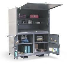 mobile storage cabinet with lock strong hold products portable field station construction