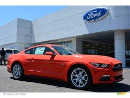2015 Mustang V6 Black 2015 Competition Orange Ford Mustang Gt Premium Coupe 103483816