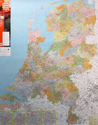 World Map Pinboard by The Netherlands Postcode Wall Map