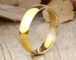 your actual finger print rings his hers mens womens matching your actual finger print rings his hers mens womens matching gold wedding bandstitanium