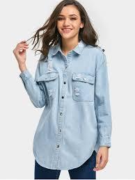 light distressed denim jacket patch distressed denim jacket light blue jackets coats one size