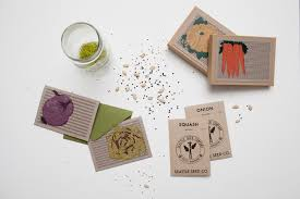 custom seed packets introducing organically yours constellation co