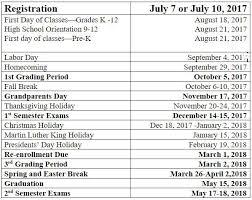 ouachita christian school academic year calendar
