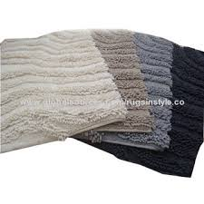 Cotton Bath Rugs Modern Design Cotton Bath Mats With Elegant Appearance Soft And