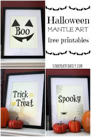 Free Halloween Printable Decorations Free Printable Halloween Decorations For Your Mantle Or Wall