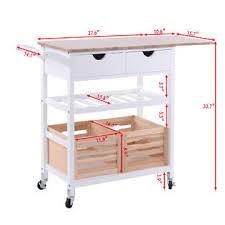goplus rolling kitchen trolley island cart drop leaf w storage