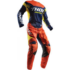 orange motocross gear thor fuse propel motocross jersey navy red orange 2017 mxweiss