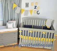 Grey And Yellow Crib Bedding Navy Blue And Gray Nursery Ideas Gray And Yellow Chevron Baby