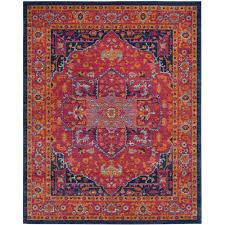 non toxic area rugs safavieh evoke blue orange 8 ft x 10 ft area rug evk275c 8 the
