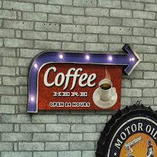 aliexpress buy led shop signs indoor bar vintage metal signs