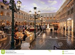 the piazza san marco replica in venetian hotel editorial photo