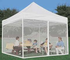Pop Up Gazebos With Netting by Amazon Com Impact Canopies 10x10 Mesh Wall Sidewalls For Pop Up