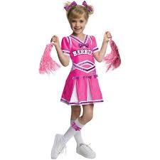 Cheer Halloween Costumes Rubies Barbie Cheerleader Child Halloween Costume Walmart