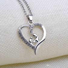 wholesale love necklace images Wholesale wholesale mom and baby love pendant necklace heart angel jpg