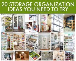 20 easy storage organization ideas for your home