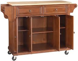 Crosley Furniture Kitchen Cart Amazon Com Crosley Furniture Rolling Kitchen Island With Natural