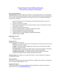 Teachers Resume Objectives Kindergarten Teacher Resume Job Description Free Resume Example