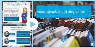 ks2 literacy biography and autobiography autobiography and biography powerpoint autobiography and