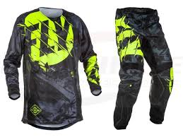 motocross pants and jersey combo fly racing kinetic outlaw jersey pant combo set mx riding gear mx