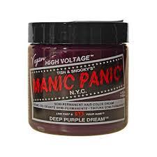 Deep Purple Color Amazon Com Manic Panic Semi Permament Haircolor Deep Purple 4