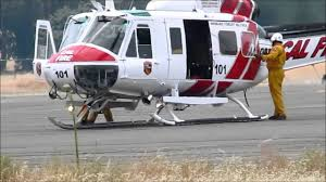 Wildfire Near Markleeville Ca by Helitack Base Cal Fire Table Mountain Aviation Oroville Ca 2013