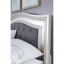 Cal King Headboards California King Panel Bed With Arched Upholstered Headboard And