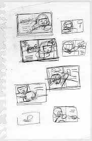 thumbnails and sketches making a picture book