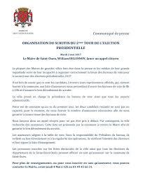 assesseurs bureau de vote ville de ouen on communiqué de presse le maire de