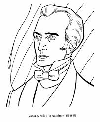 usa printables president james k polk coloring page eleventh