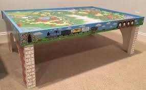 thomas the tank activity table cool wooden activity table with 45 piece train set pictures best