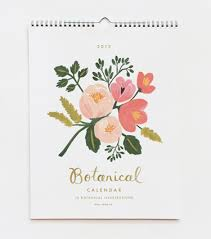 botanical calendars pretty palette for room pale peachy pink green