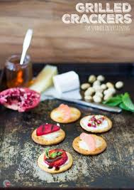 Summer Entertaining Recipes - grilled crackers for summer entertaining take two tapas