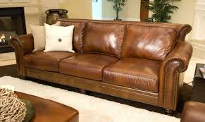 Rustic Leather Sofas Elements Home Furnishings Paladia Top Grain Leather Sofa