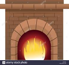 christmas chimney fire brick decoration stock vector art