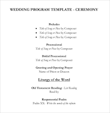 wedding reception program wedding reception program template template idea