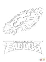philadelphia eagles logo coloring page printable pages