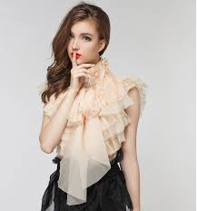 high neck ruffle blouse 2015 summer princess turtleneck layers tulle blouse high